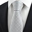 hesapli Kravatlar-Erkek Parti / İş / Temel Boyun Bağı Kareli