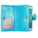 hesapli iPad Kılıfları/Kapakları-Pouzdro Uyumluluk Samsung Galaxy Samsung Galaxy S7 Edge Cüzdan / Kart Tutucu / Satandlı Tam Kaplama Kılıf Solid Yumuşak PU Deri için S8 Plus / S8 / S7 edge
