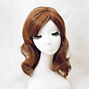 hesapli Makyaj ve Tırnak Bakımı-Sentetik Peruklar Düz Bantlı Sentetik Saç Patlama ile Kahverengi Peruk Kadın's Bonesiz Açık Kahverengi