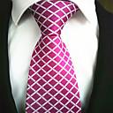 hesapli Erkek Kravatları ve Papyonları-Modaya uygun Takı Gül Kurusu Kumaş Erkek Tie Bar-1pc