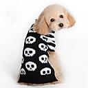 저렴한 강아지 의류 & 악세사리-고양이 강아지 스웨터 강아지 의류 해골 블랙 울 코스츔 애완 동물 남성용 여성용 패션 할로윈