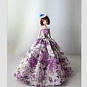 ieftine VGA-Prințesă Rochii Pentru Barbie Doll Dantelă Satin Rochie Pentru Fata lui păpușă de jucărie