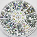 cheap Nail Rhinestones & Decorations-4 size 280pcs nail art tips crystal glitter rhinestone decoration wheel