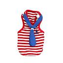 tanie Ubranka i akcesoria dla psów-Kot Psy T-shirt Ubrania dla psów W stylu brytyjskim Czerwony Niebieski Bawełna Kostium Na Wiosna i jesień Lato Męskie Damskie Moda
