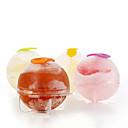 preiswerte Backzubehör & Geräte-4pcs / set Kunststoff Eiswürfel Ball Ziegel-Hersteller Tablett runde Form Eisform bar DIY Kühl Werkzeuge heiß Suche