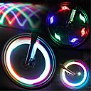 رخيصةأون اضواء الدراجة-LED اضواء الدراجة أضواء عجلة دراجة جبلية ركوب الدراجة ضد الماء وسائط متعددة ضوء LED البطارية أخضر / IPX-4