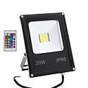 저렴한 LED 필라멘트 조명-1 개 20 W LED 투광 조명 / 잔디 등 원격 제어 / 방수 / 장식 RGB 85-265 V 실외 조명 / 안마당 / 가든