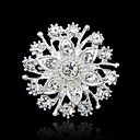 cheap Brooches-Women's Brooches - Rhinestone Fashion Brooch Silver For Party / Special Occasion / Birthday