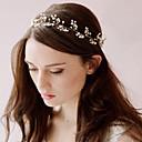 voordelige Haarsieraden-witte parel lace up hoofdbanden voor dame huwelijksfeest