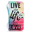 cheap iPhone Cases-Case For Apple iPhone 8 iPhone 8 Plus iPhone 6 iPhone 7 Plus iPhone 7 Card Holder Pattern Full Body Cases Word / Phrase Hard PU Leather