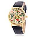 저렴한 목걸이-CAGARNY 여성용 손목 시계 석영 캐쥬얼 시계 멋진 / 가죽 밴드 아날로그 꽃 나뭇잎 빈티지 블랙 / 레드 / 브라운 - 옐로우 브라운 레드