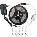 cheap LED Strip Lights-LED Light Strip Kit -3528 -300 LEDs   Includes 3A Power Supply (36 Watt) and Dimmer - LED Tape Light Connector