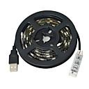hesapli LED Şerit Işıklar-JIAWEN 1m Esnek LED Şerit Işıklar 60 LED'ler 5050 SMD RGB Kesilebilir / Su Geçirmez / Araçlar İçin Uygun 5 V / IP65 / Kendinden Yapışkanlı
