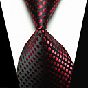cheap Rings-Men's Tie Clips Fashion Black Red Fabric Tie Bar