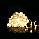 tanie Taśmy świetlne LED-10 m Łańsuchy świetlne 100 Diody LED Dip LED Ciepła biel Pilot zdalnego sterowania / Przysłonięcia / Mozliwość połączenia 220 V / Zmieniająca Kolor / IP44