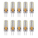 abordables LED à Double Broches-10pcs 1 W 460 lm G4 LED à Double Broches Tube 24 Perles LED SMD 3014 Décorative Blanc Chaud / Blanc Froid 12 V / 10 pièces / RoHs