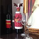 preiswerte Taschen & Boxen-Weihnachtsrotwild-Elchart-Rotwein-Champagnerflaschenabdeckungsbeutel für Silvesterabendessen-Parteiweihnachtsdekorationen