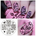 cheap Makeup & Nail Care-rose flower nail art stamping template image plate born pretty bp 73 nail stamping plates manicure stencil set