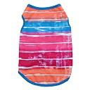 preiswerte Badezimmer Gadgets-Katze Hund T-shirt Weste Hundekleidung Streifen Rose Blau Baumwolle Kostüm Für Haustiere Herrn Damen Niedlich Lässig/Alltäglich Urlaub