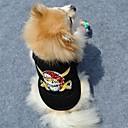 halpa Meikki & kynsienhoito-Kissa Koira T-paita Koiran vaatteet Pääkallot Musta Puuvilla Asu Käyttötarkoitus Kesä Miesten Naisten Muoti