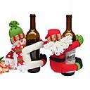 رخيصةأون المكياج & العناية بالأظافر-عيد الميلاد تزيين النبيذ الاحمر زجاجة بيرة دمى مجموعات سانتا كلوز ثلج رجل عيد الميلاد حزب العائلة مطعم الفندق