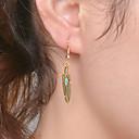 preiswerte Halsketten-Herrn Damen Tropfen-Ohrringe - Blattform Modisch Gold / Silber Für Hochzeit Party Alltag
