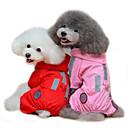 tanie Ubranka i akcesoria dla psów-Kot Psy Płaszcz przeciwdeszczowy Ubrania dla psów Solidne kolory Czerwony Różowy Terylen Kostium Na Wiosna i jesień Lato Męskie Damskie Wodoodporny