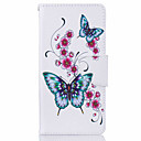 cheap Galaxy J Series Cases / Covers-Case For Huawei P9 Huawei P9 Lite Huawei Card Holder Wallet with Stand Pattern Full Body Cases Butterfly Hard PU Leather for Huawei P9