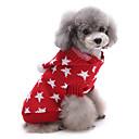 Недорогие Одежда и аксессуары для собак-Кошка / Собака Свитера / Рождество Одежда для собак Звезды Красный / Синий Хлопок Костюм Для домашних животных Муж. / Жен. Сохраняет тепло
