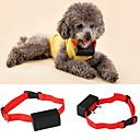 ieftine Câini Gulere, hamuri și Curelușe-Câine coaja Guler anti-Scoarță Electronic / Electric Vibrație Mată Nailon Rosu