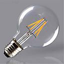 hesapli LED Bi-pin Işıklar-1pc 4 W 350 lm E26 / E27 LED Filaman Ampuller G125 4 LED Boncuklar COB Dekorotif Sıcak Beyaz / Sarı 220-240 V / 1 parça / RoHs