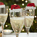 رخيصةأون تزيين المنزل-3pcs الزجاج والنبيذ الأحمر بطاقة في يوم عيد الميلاد