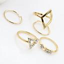 baratos Anéis-Mulheres Cristal Conjunto de Jóias - Turquesa, Liga Fashion 6 Prata / Dourado Para Festa Diário Casual