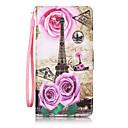 ieftine Carcase iPhone-Maska Pentru Huawei Honor 7 / Huawei P9 / Huawei P9 Lite Huawei P9 Lite / Huawei P9 / Huawei P8 Lite Portofel / Titluar Card / Întoarce Carcasă Telefon Turnul Eiffel Greu PU piele