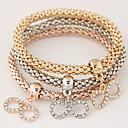 abordables Bracelets-Femme Effets superposés Empiler Charmes pour Bracelets - Strass, Imitation Diamant Infini Personnalisé, Luxe, Européen Bracelet Arc-en-ciel Pour Cadeau Quotidien