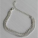 저렴한 귀걸이-여성용 멀티 레이어 쌓을 수있는 발찌 은 도금 모조 다이아몬드 숙녀 유럽의 패션 멀티 레이어 발찌 보석류 실버 제품 일상 캐쥬얼