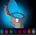 ieftine Lumini & Gadget-uri LED-breung 1 upgrade de apă impermeabil 8-culoare corpului senzor de mișcare corp pir toaletă lumina de noapte