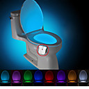 ieftine Lumini Novelty LED-brelong modernizate impermeabil mișcare veioza toaletă activat condus toaletă lumina baie washroom dc4.5v