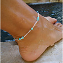 cheap Body Jewelry-Turquoise Anklet - Turquoise Cross Beaded, European, Simple Style Silver For Party Daily Women's