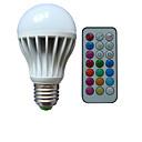 hesapli LED Küre Ampuller-B22 E26/E27 LED Küre Ampuller A80 3 led Yüksek Güçlü LED RGB Kısılabilir Uzaktan Kumandalı Dekorotif AC 85-265