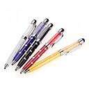 hesapli Cep Telefonu Süsleri-iphone / ipod / ipad / samsung ve diğer için szkinston 5-in-1 elmas çiçek kristal kapasitif stylus dokunmatik ekran kalemi tükenmez kalem