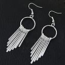 cheap Necklaces-Women's Tassel Drop Earrings Hoop Earrings - Tassel, European, Fashion Silver For Party Daily
