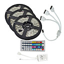 cheap Bike Lights-15M(3*5M) 5050 900 LEDs RGB Waterproof with 44Keys IR Remote Controller Flexible LED Strip Light