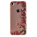 tanie Etui do iPhone-Kılıf Na Apple iPhone 6 iPhone 7 IMD Czarne etui Kwiaty Miękkie TPU na iPhone 7 iPhone 6s iPhone 6