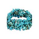 ieftine Brățări-Pentru femei Cristal Piatra vulcanică Brățări cu Lanț & Legături Vărsătorul femei Design Unic Modă Pietrele Lunilor Cristal Bijuterii brățară Albastru Pentru Zi de Naștere Cadou Zilnic / Turcoaz
