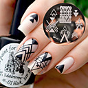 cheap Makeup & Nail Care-born pretty bp77 nail art image stamping plates geometry negative space design