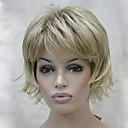 preiswerte Make-up & Nagelpflege-Synthetische Perücken Damen Wellen Stufenhaarschnitt / Mit Pony Synthetische Haare Perücke Kappenlos 130A 15BT613 V6 Hivision