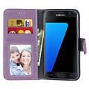 رخيصةأون حافظات / جرابات هواتف جالكسي S-غطاء من أجل Samsung Galaxy S7 edge / S7 / S6 edge محفظة / حامل البطاقات / قلب غطاء كامل للجسم لون سادة قاسي جلد PU