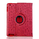hesapli Takı Setleri-Pouzdro Uyumluluk iPad 4/3/2 Satandlı Origami Tam Kaplama Kılıf Karton PU Deri için iPad 4/3/2