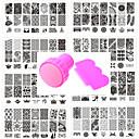 preiswerte Make-up & Nagelpflege-10 pcs Stempelplatte Vorlage Modisches Design Nagel Kunst Maniküre Pediküre Stilvoll / Austattungen / Blume